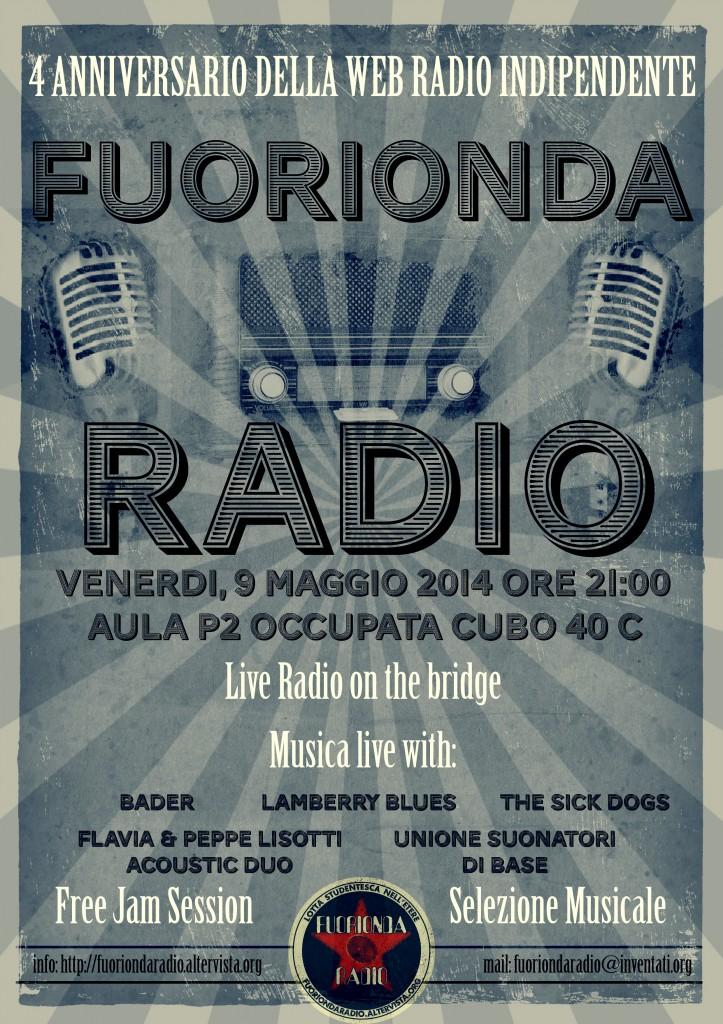 quarto anniversario della radio